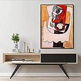 Abaabul España Pablo Picasso Sin Título Lienzo Galería de Arte de la Sala de estar Cuadro de pared Decoración Famosa Vintage Póster Impresiones Abstracto Pintura de Pared Sin Marco