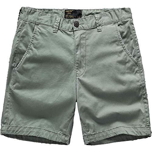 Pantalones Cortos Sueltos Simples para Hombre Pantalones Cortos de Carga Rectos Lavados a la Moda Informal de Verano con botón clásico y Tapeta con Cremallera 34