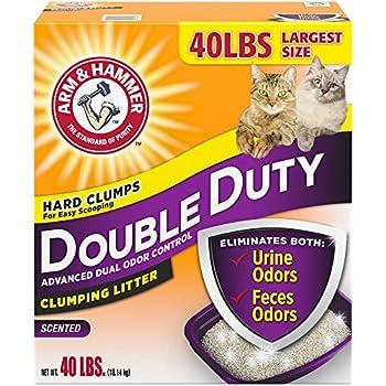 Arm & Hammer Double Duty Clumping Cat Litter 40lb Box