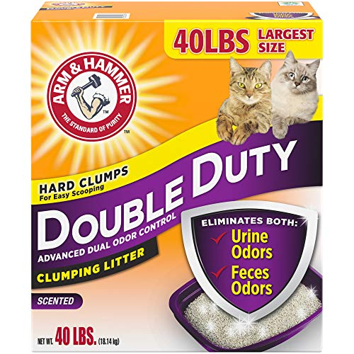 Arm & Hammer Double Duty Clumping Cat Litter, 40lb