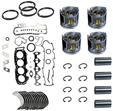 Portland Mall Gasket Import Set+Piston+Ring+Bearings+Washer for Forkl Mitsubishi 2.8L