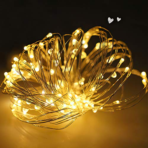 Fairy Lights, 10M 100 LEDs White Copper Wire String Lights Mains Powered, Waterproof Garden Fairy Light Plug in for Party, Wedding, Christmas, Bedroom, Indoor, Outdoor