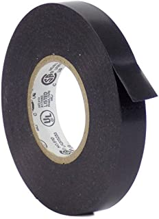 WOD EL7566-AW Premium Grade General Purpose Rubber Adhesive Black PVC Electrical Tape UL/CSA/CE Listed Core, rated up to 600V and 176F (Available in Multiple Sizes): 3/8 in. x 66 Ft. (Pack of 1)