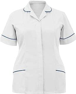 Women Hospital Nurse Uniform Tunic Top Ladies Healthcare Work Shirt Top