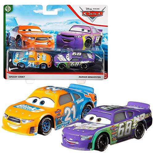 Disney Selección Doble Pack Cars | Modelos Vehículos 2020 | Cast 1:55 | Mattel, Cars Doppelpacks:Speedy Comet & Parker Brakeston