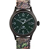 Timex Men's Expedition Scout 40mm Analog Quartz Leather Strap, Camouflage, 20 Casual Watch (Model: TW2T94600)