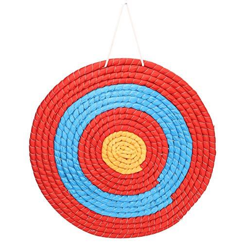 Drfeify Zielscheibe Bogenschießen, Traditionelles Bogenschießen Massives Stroh Ziel Geeignet für den Innen- und Außenbereich im Freiensport