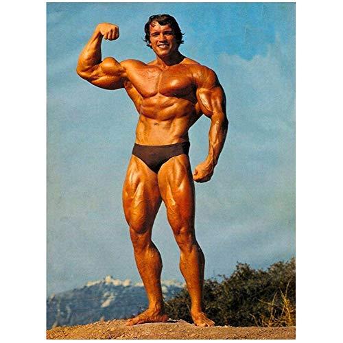 Arnold Schwarzenegger Poster und Kunstdrucke Bodybuilding Deko Kunst Poster Leinwand Gemälde Wohnkultur Druck auf Leinwand -60x80cm-Ohne Rahmen