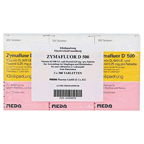 Zymafluor D 500 Tabletten zur Vorbeugung gegen Rachitis und Karies, 900 St. Tabletten