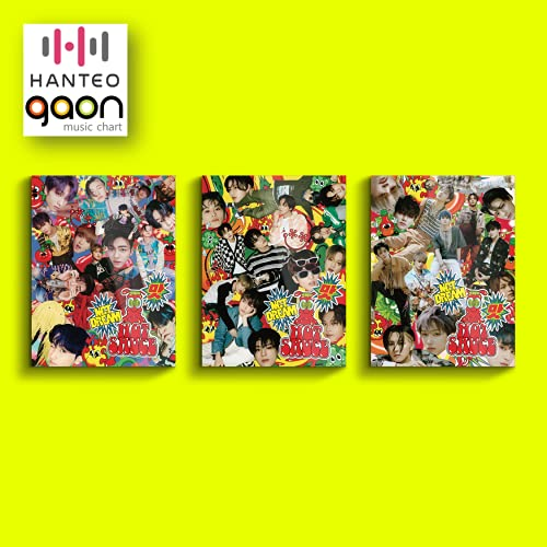 NCT Dream - Hot Sauce [Photobook Crazy + Boring + Chilling Full Set ver.] (The 1st Album) [Pre Order] 3CD+3Photobook+3Folded Poster+Others with Tracking, Extra Decorative Stickers, Photocards