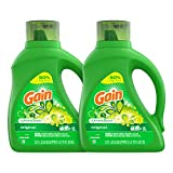 Gain Laundry Detergent Liquid Plus Aroma Boost, Original Scent, HE Compatible, 96 Loads Total, 75 Fl Oz (Pack of 2)
