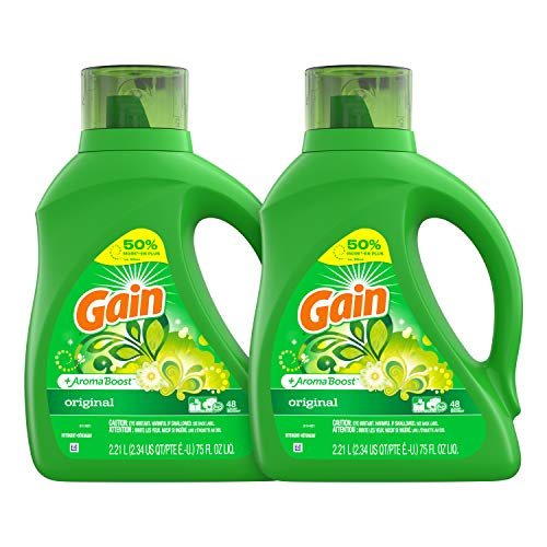 Our #1 Pick is the Gain Liquid Plus Aroma Boost Laundry Detergent