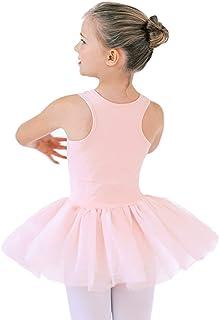 STELLE Cotton Leotards Tutu Dress for Girls Dance Birthday Dress Up