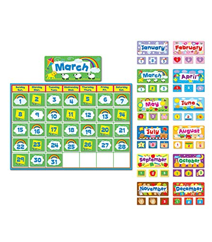 Carson Dellosa Calendar Set—Multicolor, Seasonal Kit With Monthly Headers, Days of the Week, Numbers, Seasons, Holidays, Bulletin Board Décor (415 pc)