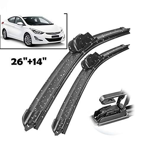 HZHAOWEI Ruitenwisser Front Wisserbladen, Voor Hyundai i30 GD 2013-2017 Voorruit Voorruit Voorruit 2016 2015 2014 26