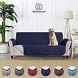 Funda Cubre Sofá Fundas de Sofá Protector Cover para Mascotas Protector de Sofá Cubre para Sofá Impermeable Anti-Sucio para Mascotas Protector de Sofá Muebles - (3 plazas 279 x 190 cm, Azul marino)