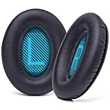 WC Premium Replacement Ear Pads for Bose Headphones Made by Wicked Cushions - Cloud Like Comfort - Compatible with QC15 / QC25 / QC2 / AE2 / AE2i / AE2W - Longer Lasting Durability (Blue L+R Screen)…