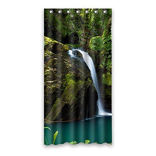 Einmal Young blue sky Wasserdicht Polyester-Badezimmer-Dusche Vorhang Badezimmer Deko 91,4x 182,9cm (90x 183cm), Polyester, K, 36