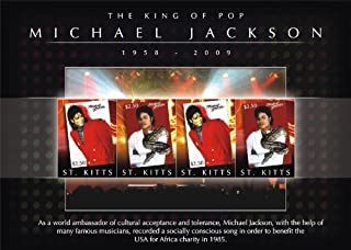 Michael Jackson King of Pop Collectible Postage Stamps STK0907SH