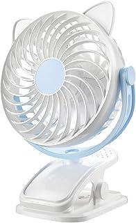 INFILM Ventilador eléctrico de escritorio sin ruido, portátil, silenciador para mesilla de noche, ventilador personal de 3 velocidades, para oficina, interior y exterior de viaje