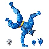 Hasbro Marvel Legends Series 6' Collectible Action Figure Beast Toy (X-Men Collection) – with Caliban Build-A-Figure Par