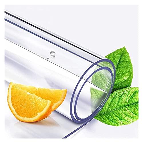 AYLYHD Protector de Mesa de Material Impermeable Transparente. PVC Protector Mesa Comedor para mesas de Cocina, mesas de Comedor, Mantel, Mesa de Escritorio (Color : 1.5mm, Size : 85x135cm)