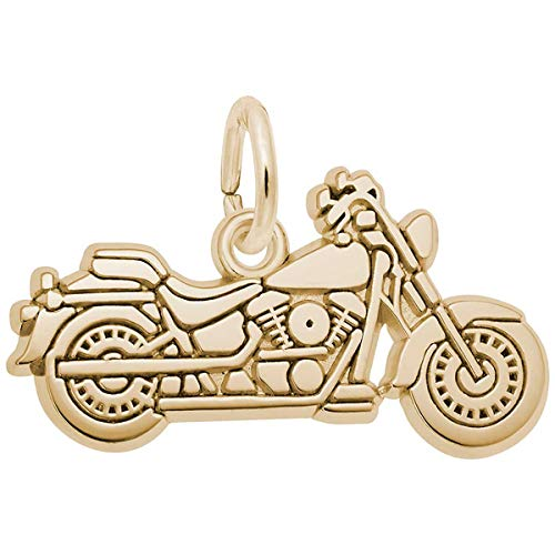 Hot Sale Rembrandt Charms Motorcycle Charm, 14K Yellow Gold
