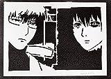 Póster Tokyo Ghoul Ken Kaneki - Black Reaper y Kishou Arima Grafiti Hecho a Mano - Handmade Street Art - Artwork