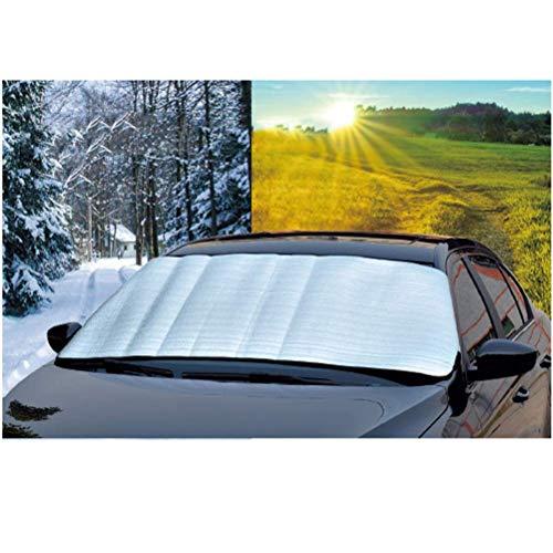 Universele buiten auto voorruit beschermhoes, auto voorruit zonnescherm beschermer tegen sneeuw, zon, ijs, vorst, wind, stof, past op de meeste auto's, waterdicht en winddicht, 5 stuks
