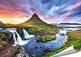 """PMP 4life. XXL Poster """"Kirkjufel Wasserfall""""  140x100cm"""