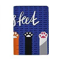 ZHIMI パスポートケース パスポートカバー 可愛い 猫爪柄 パスポートホルダー スキミング防止 高級レザー 多機能 トラベルウォレット エアチケット 名刺 クレジットカード収納 おしゃれ レディース メンズ 海外旅行 出張