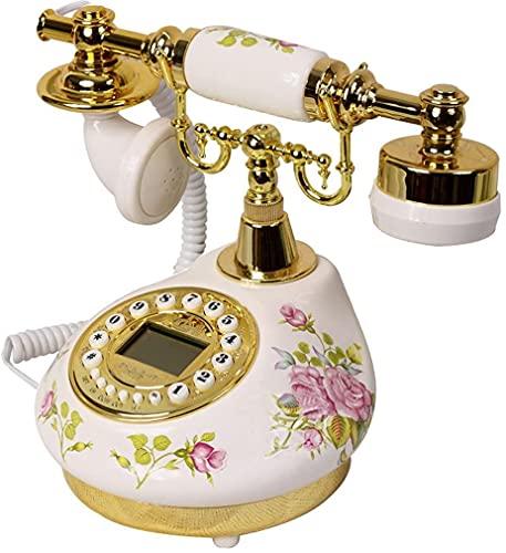 CWZY Clásico Europeo Retro teléfono Fijo teléfono Antiguo telefono de cerámica Moda Creativo Retro teléfono Europeo hogar Moderno línea Fija