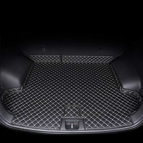 Qgg Cuero Maletero del Coche Estera los Accesorios de Revestimiento Fit for Hyundai Tucson SUV de Carga de Arranque de Interiores (Color Name : Black Beige Wire 1)