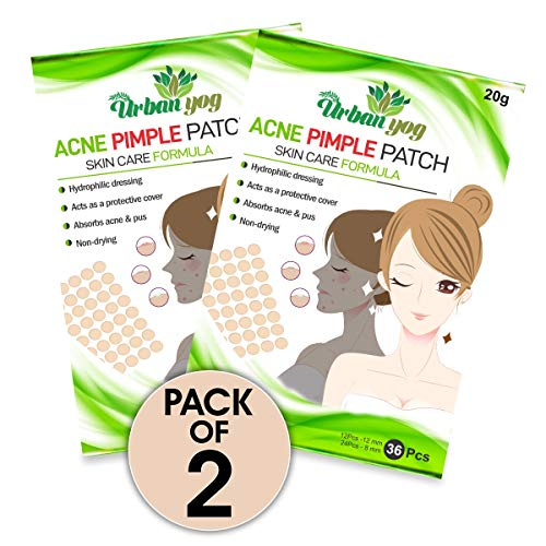 Urban yog Acne Pimple Patch - Invisible Facial Stickers cover with 100% Hydrocolloid, Pimple / Acne Absorbing patch (Single)