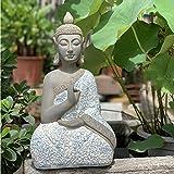 Bata Buda Decoración Zen Ornamento Sentado Estatua Meditando En Impresionante Acabado - (Pequeño Grande) Large-54 * 30 * 20cm