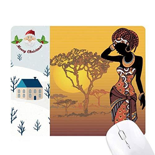 la savane africaine des femmes noires de robes cadeau de noël maison tapis de souris
