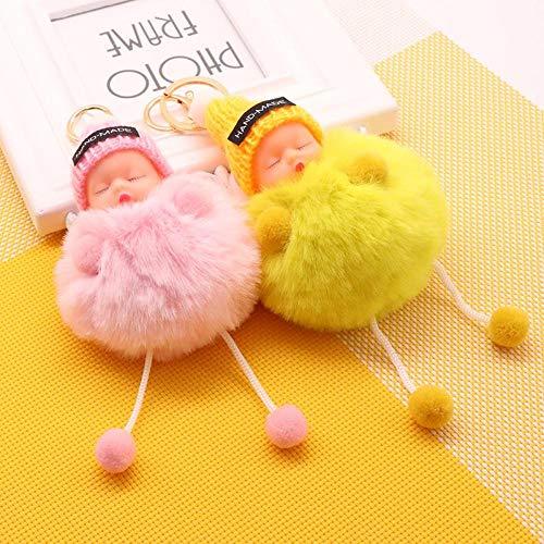 DONGER Cute Sleeping Keychain Schoolbag Anhänger Schmuck Flitterwochen Geburtstag Giftwhite