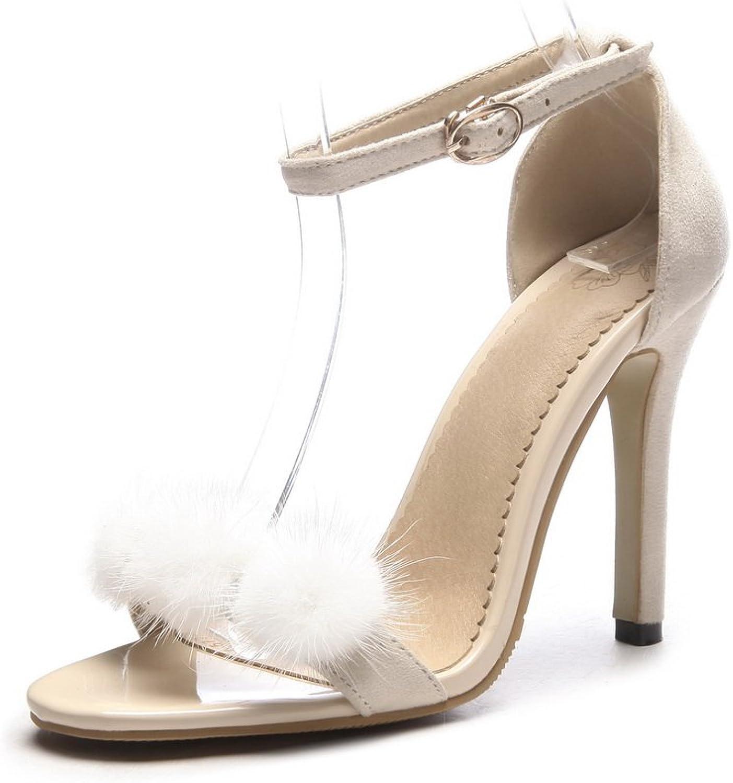 AdeeSu Womens Huarache Fringed Non-Marking Urethane Sandals SLC03789
