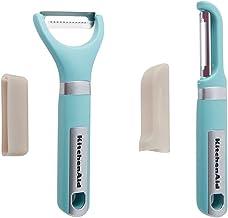 KitchenAid 2-pc Handheld Peeler Set: Julienne Peeler, Serrated Peeler, Aqua Sky