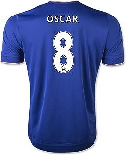 Oscar #8 Chelsea Home Soccer Jersey 2015 (2XL)