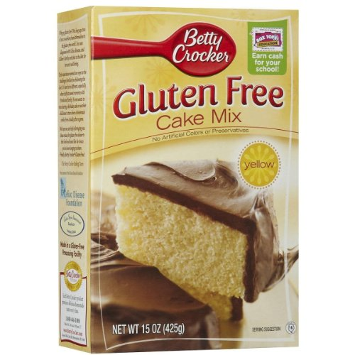 Betty Crocker, Gluten Free, Yellow Cake Mix, 15oz Box (Pack of 4)