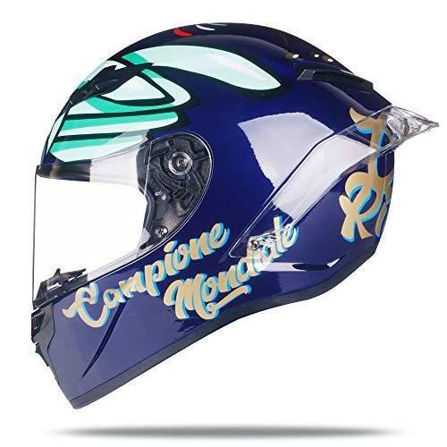 Woljay Integralhelm Helm Motorradhelm Motocross Offroad Moto Street Helme Fahrrad Helme (M, Papagei)