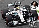 Lewis Hamilton Formel 1 Bunt Poster mit Autogramm- Kopie