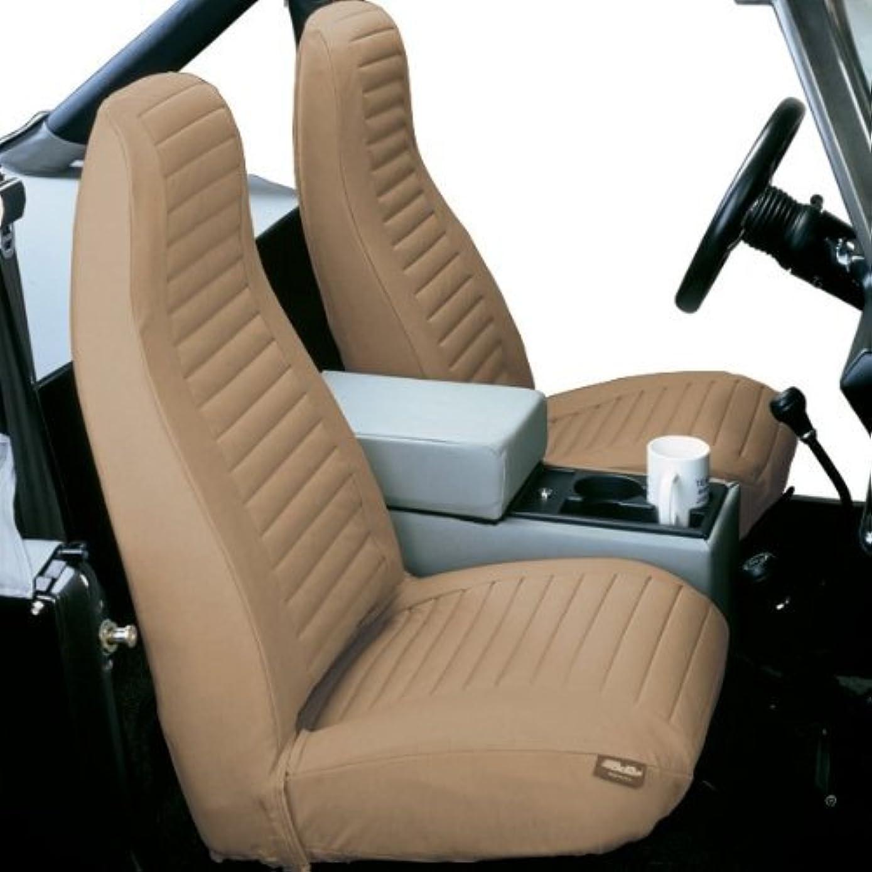 Bestop Seat Cover Hi Back Bucket Pair Tan 1976-1991 Jeep CJ5, CJ7 & Jeep Wrangler YJ # 29227-04 by Bestop