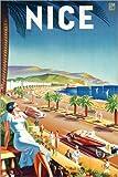 Poster 20 x 30 cm: Nizza, um 1930 von Eff d'Hey/ARTOTHEK -