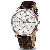Bossart(ボッサート) 腕時計 クォーツ Atmanシリーズ 5ATM 44mm BW-1401-IR-SI-Br [並行輸入品]
