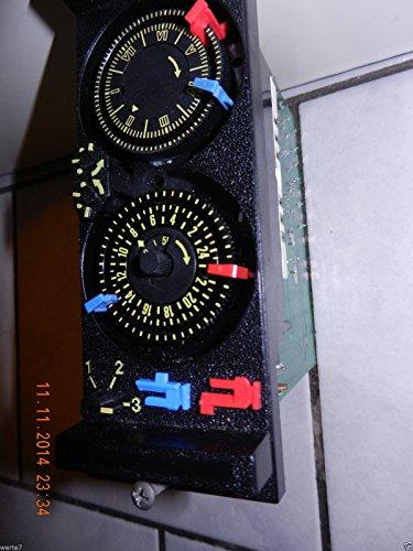 2 Stück REITER/Einschalter/Ausschalter, blau/rot, Größe: 12 x 5mm für Schaltuhr: für Viessmann Trimatik/Tetramatik und andere, NEU