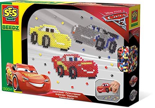 SES Creative 06291 06291-Beedz Bügelperlen Disney Cars 3