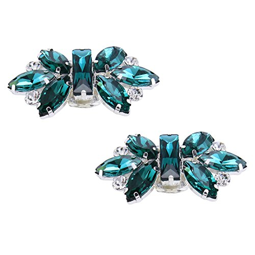 Clips cristal brillantes zapatos mujeres bodas verde