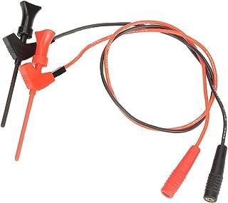 2Pcs 2mm黒/赤バナナプラグソケットテストリード P1511Bテストクリップフックセット ミニグラバーテストプローブフック ICフックテストクリップ グラバテストプローブ